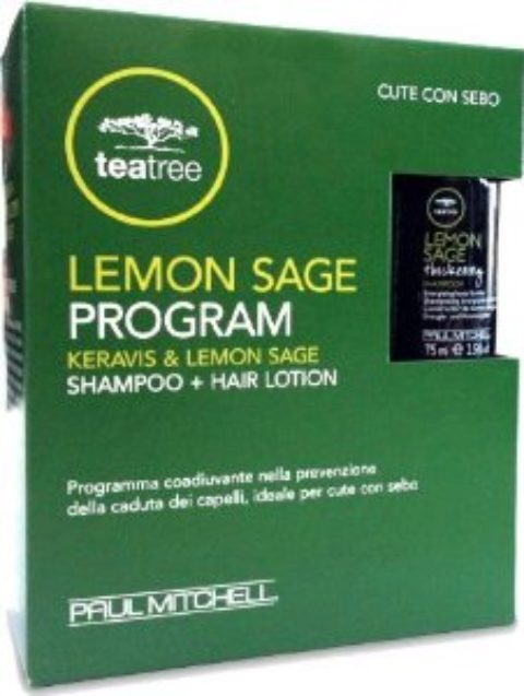 Paul Mitchell Tea tree Lemon Sage Program Shampoo 75ml   Hair Lotion 12x6ml