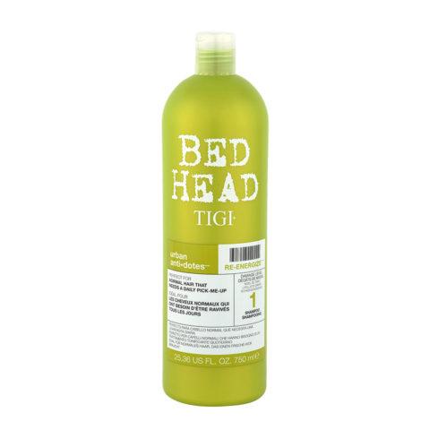 Tigi Urban Antidotes Re-Energize Shampoo 750ml - shampoo riparatore livello 1