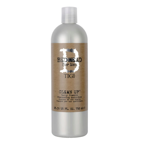Tigi Bed Head Men Clean up Daily Shampoo 750ml - shampoo uso quotidiano