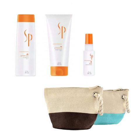Wella System Professional After sun kit shampoo 250ml   conditioner 200ml   concentrate 50ml   omaggio pochette