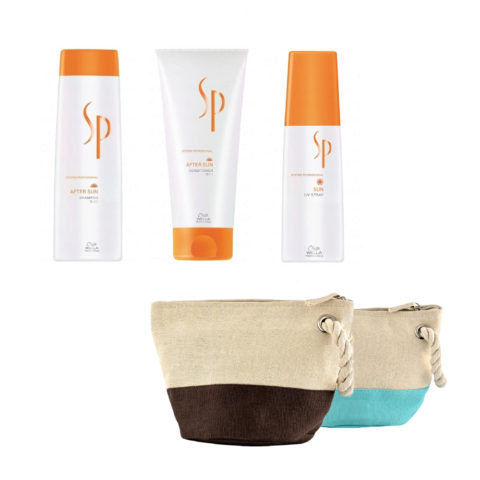 Wella System Professional After sun kit shampoo 250ml   conditioner 200ml   Sun uv spray 125ml   omaggio pochette