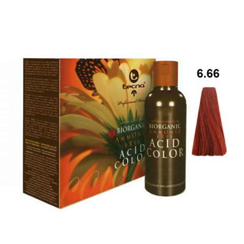 6.66 Biondo scuro rosso intenso Tecna NCC Biorganic acid color 3x130ml
