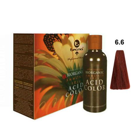 6.6 Biondo scuro rosso Tecna NCC Biorganic acid color 3x130ml