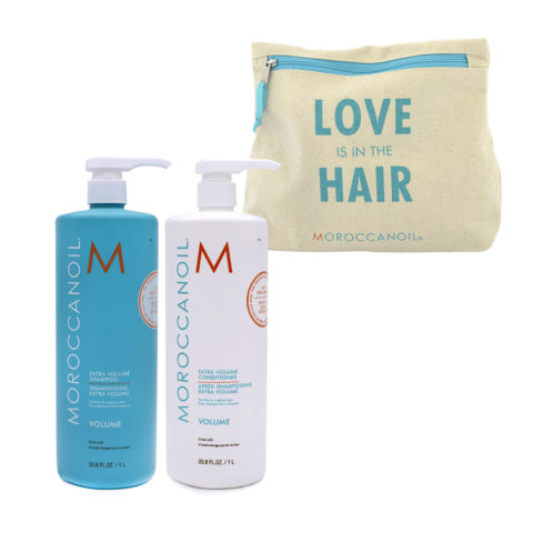 Moroccanoil Kit1 Extra volume shampoo 1000ml Extra volume conditioner 1000ml - shampoo e balsamo volumizzanti