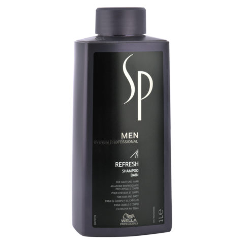 Wella SP Men Refresh Shampoo 1000ml - shampoo rinfrescante