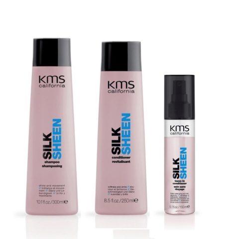 Kms california Kit5 Silksheen Shampoo 300ml Conditioner 250ml Leave-in conditioner 150ml