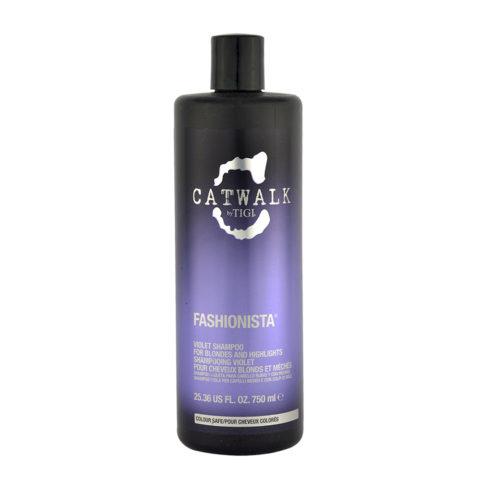 Tigi Catwalk Fashionista Violet shampoo Antigiallo per Capelli Biondi 750ml