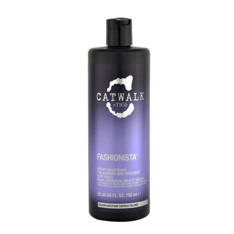 Tigi Catwalk Fashionista Violet conditioner 750ml - balsamo capelli biondi