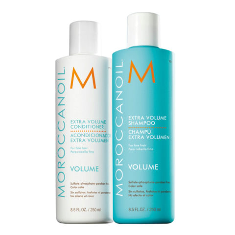 Moroccanoil Kit1 Extra volume shampoo 250ml Extra volume conditioner 250ml - shampoo e balsamo volumizzanti