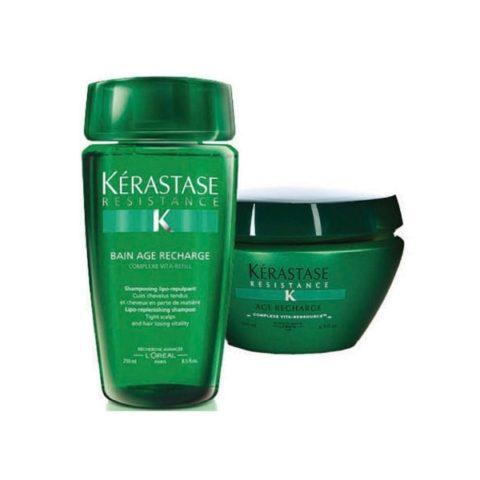 Kerastase Kit3 Résistence Bain Age Recharge250ml Masque Age Recharge200ml