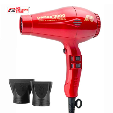 Parlux 3800 Eco Friendly Ionic & Ceramic Rosso