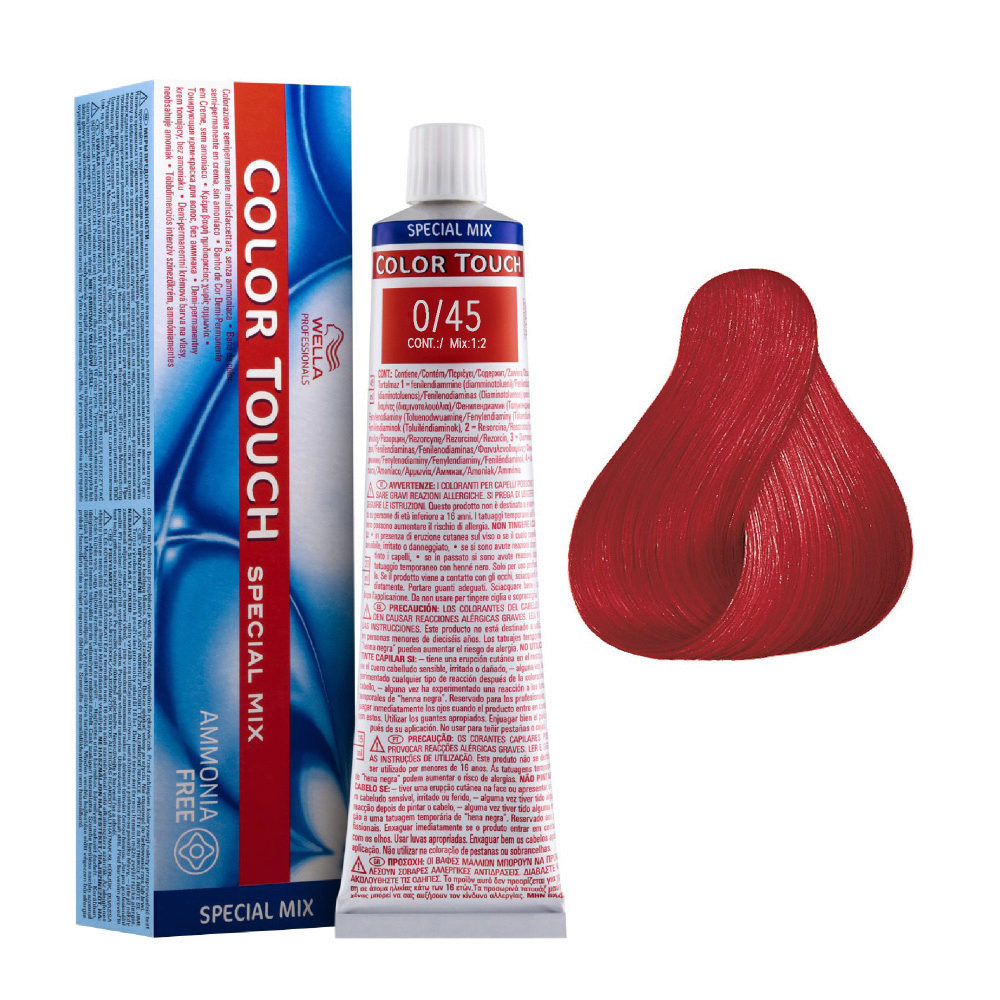 0/45 Rosso Wella Color touch Special mix senza ammoniaca 60ml