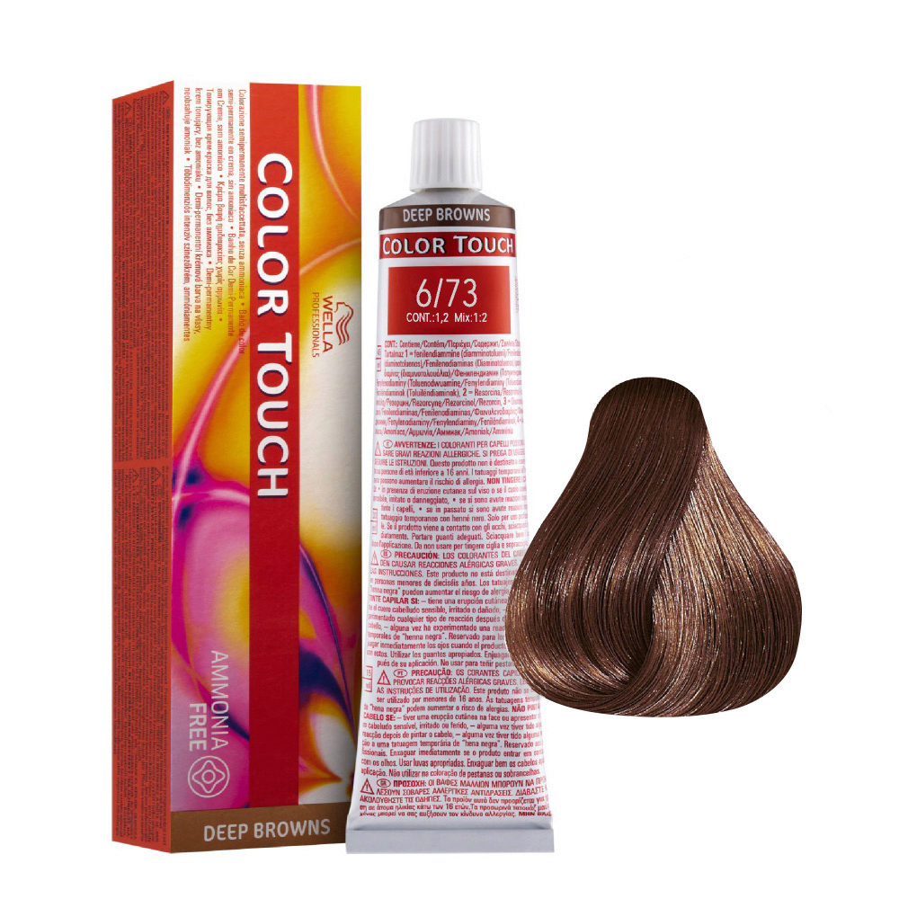 6/73 Biondo Scuro Sabbia Dorato Wella Color Touch Deep Browns senza ammoniaca 60ml