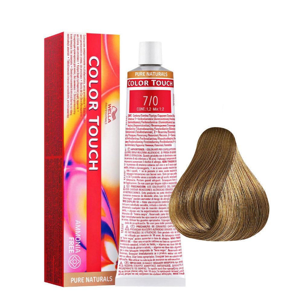 7/0 Biondo Medio Wella Color Touch Pure Naturals senza ammoniaca 60ml