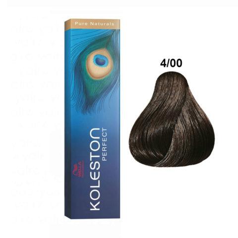 4/00 Castano Medio Naturale Wella Koleston Perfect Pure Naturals 60ml