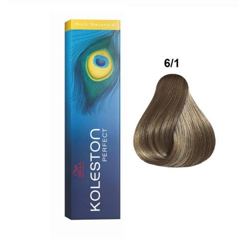 6/1 Biondo Scuro Cenere Wella Koleston Perfect Rich Naturals 60ml