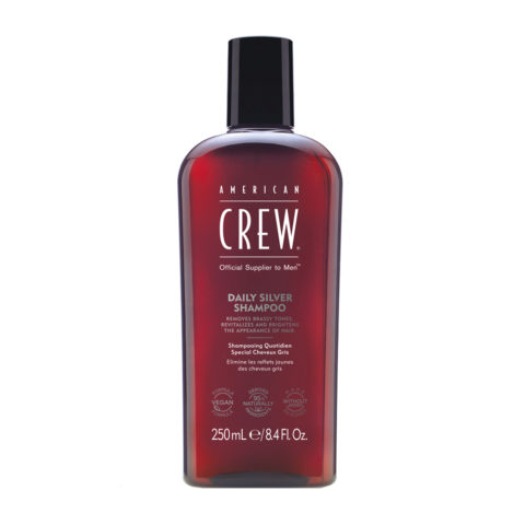 American crew Classic Gray shampoo 250ml - shampoo per il mantenimento dei capelli grigi