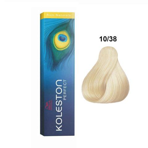 10/38 Biondo platino dorato perla Wella Koleston perfect Rich naturals