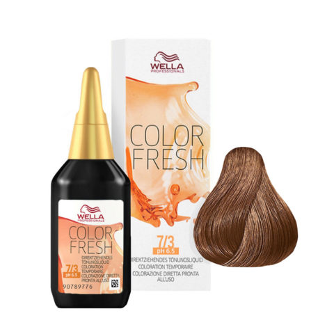 7/3 Biondo medio dorato Wella Color fresh 75ml