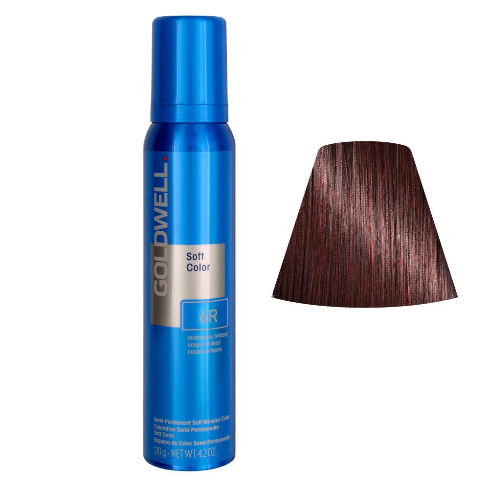 Goldwell Colorance soft color Schiuma colorante 6R Mogano brillante 125ml