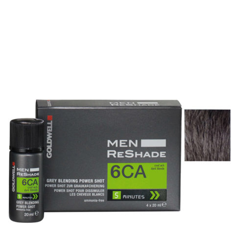 Goldwell Color men reshade 6CA cenere fredda biondo scuro CFM 4x20ml - colore uomo