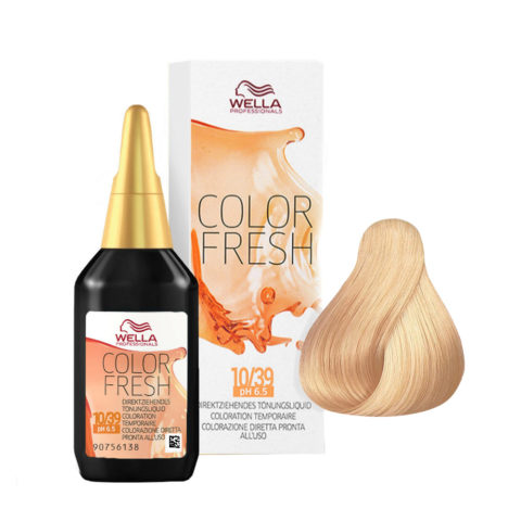 10/39 Biondo platino dorato cendrè Wella Color fresh 75ml
