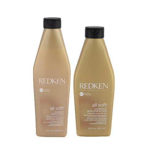 Redken Kit All soft Shampoo 300ml   Conditioner 250ml - shampoo e balsamo idratanti