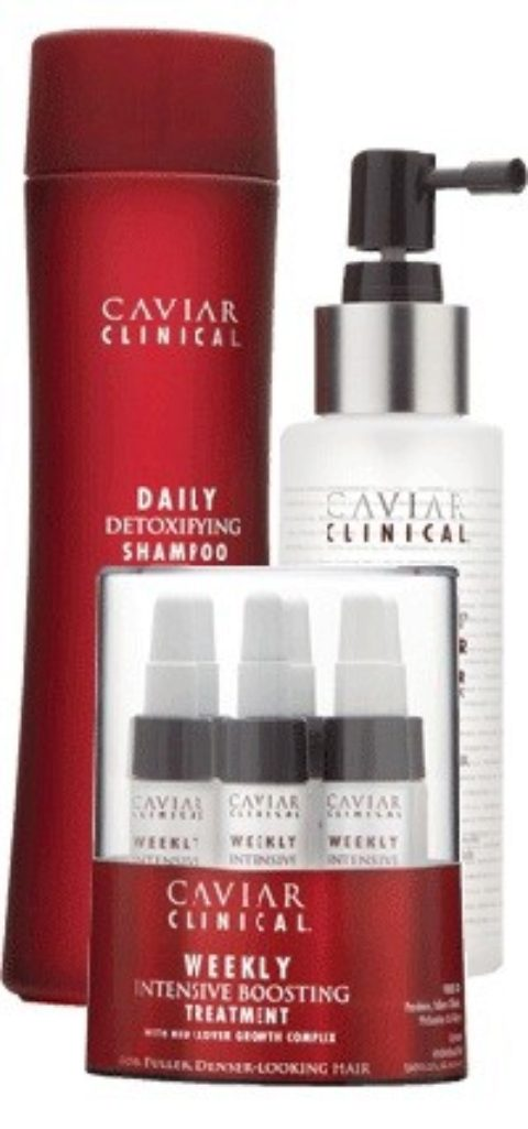 Alterna Caviar Clinical Kit1 Daily detoxifying shampoo 250ml Root & scalp stimulator 100ml Weekly intensive boosting