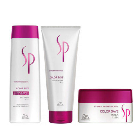 Wella SP Kit3 Color Save Shampoo 250ml   Conditioner 200ml   Color Save Mask 200ml