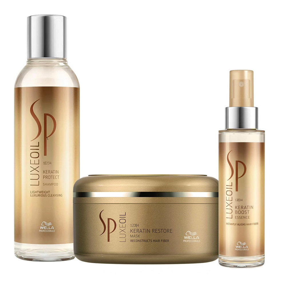 Wella SP Kit2 Luxe Oil Keratine protect shampoo 200ml   Keratin restore mask 150ml   Keratine boost essence 100ml