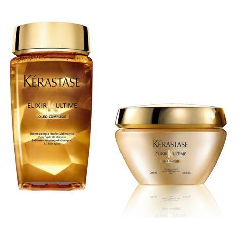 Kerastase Kit1 Elixir ultime Sublime cleansing shampoo 250ml Beautifying oil masque 200ml