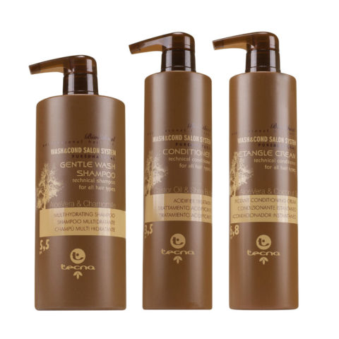 Kit Gentle Wash Shampoo 750ml + Conditioner 500 ml + Detangle Cream  500ml