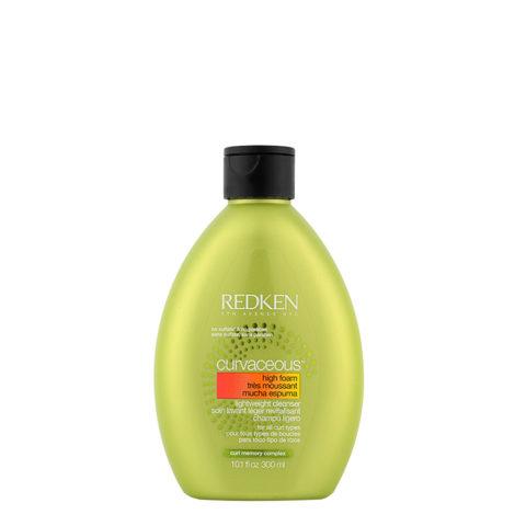 Redken Curvaceous High-foam Lightweight cleanser Shampoo 300ml - shampoo detergente leggero ricci