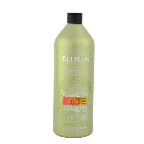 Redken Curvaceous High-foam Lightweight cleanser Shampoo 1000ml - shampoo detergente leggero ricci