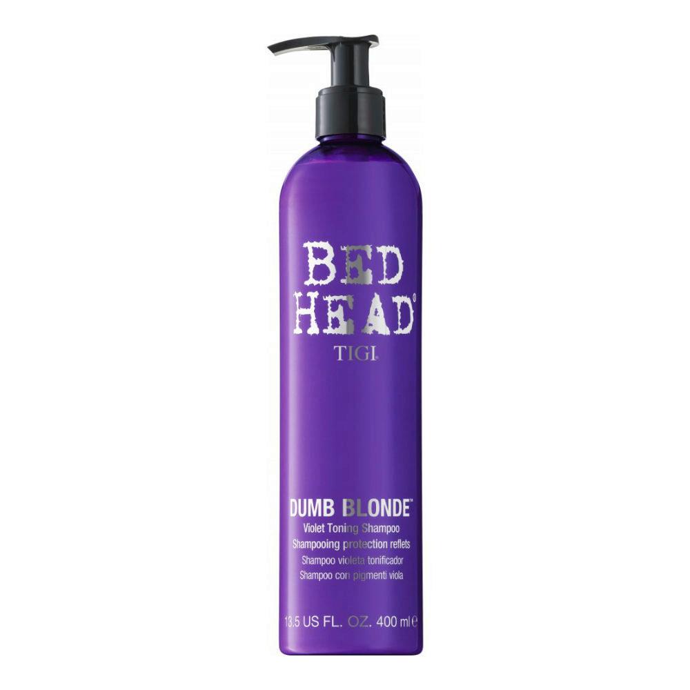 Tigi Bed Head Dumb Blonde Violet Toning Shampoo 400ml - con pigmenti viola