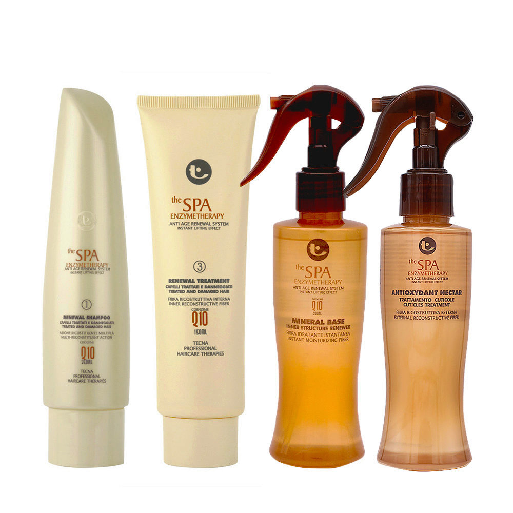 Tecna SPA Kit Shampoo 250ml Treatment 150ml Mineral base 200ml Nectar 150ml