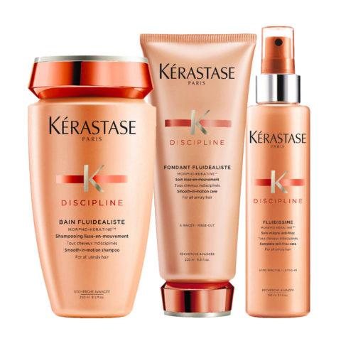 Kerastase Discipline Kit Shampoo Balsamo e Spray anticrespo