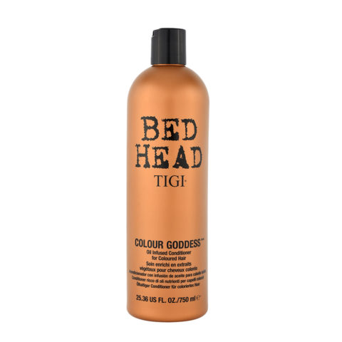 Tigi Bed Head Colour Goddess Oil infused Conditioner 750ml - balsamo ricco di oli per capelli colorati