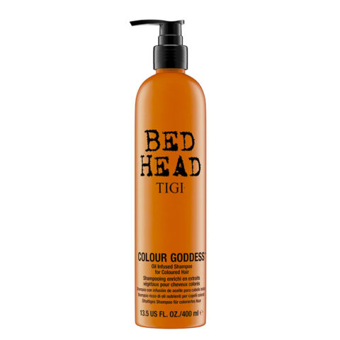 Tigi Bed Head Colour Goddess Oil infused Shampoo 400ml - ricco di oli per capelli colorati