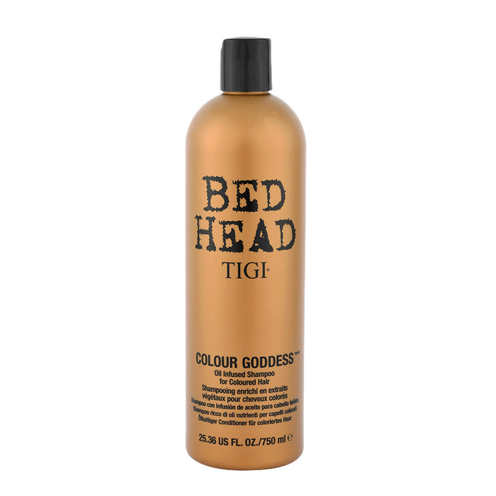Tigi Bed Head Colour Goddess Oil Infused Shampoo 750ml Ricco Di Oli Per Capelli Colorati