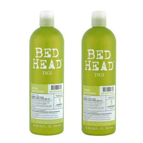Tigi Urban Antidotes Kit Re-Energize Shampoo 750ml   Conditioner 750ml