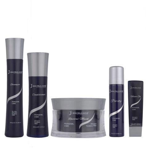 Jean Paul Mynè Kit1: Shampoo, Conditioner, Revital mask, Vetiver oil, Purity