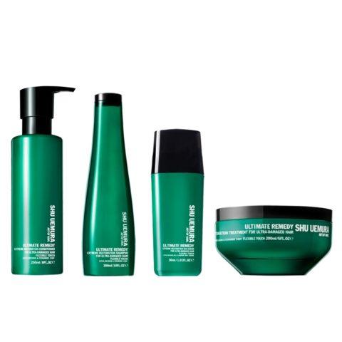Shu Uemura Kit2 Ultimate remedy Shampoo  Conditioner  Treatment  Duo serum