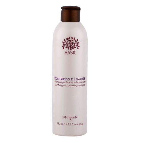 Naturalmente Basic Rosmarino e lavanda Shampoo purificante detossinante 250ml