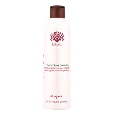 Naturalmente Basic Shampoo finocchio e geranio idratante normalizzante 250ml