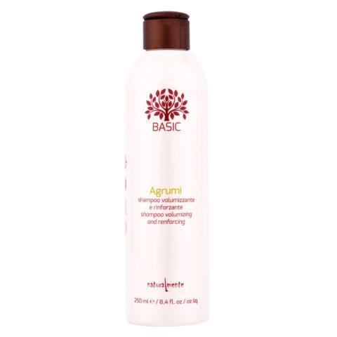 Naturalmente Basic Shampoo agli agrumi volumizzante e rinforzante 250ml