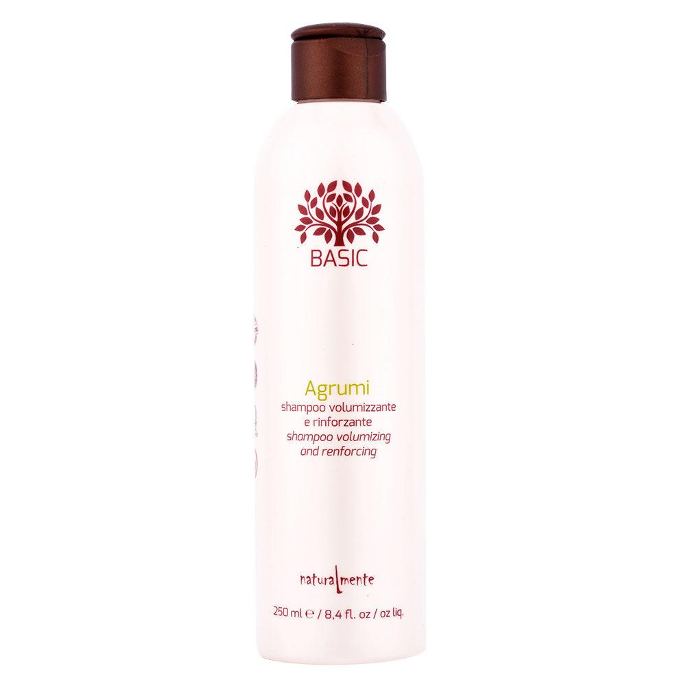 Naturalmente Basic Shampoo agli agrumi volumizzante e rinforzante 250ml - shampoo volume per capelli fini