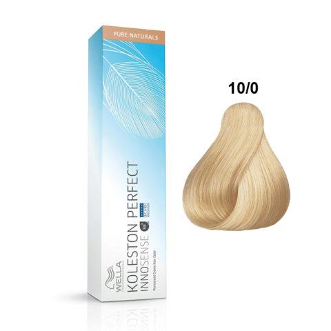 10/0 Biondo platino Wella Koleston Perfect innosense Pure naturals