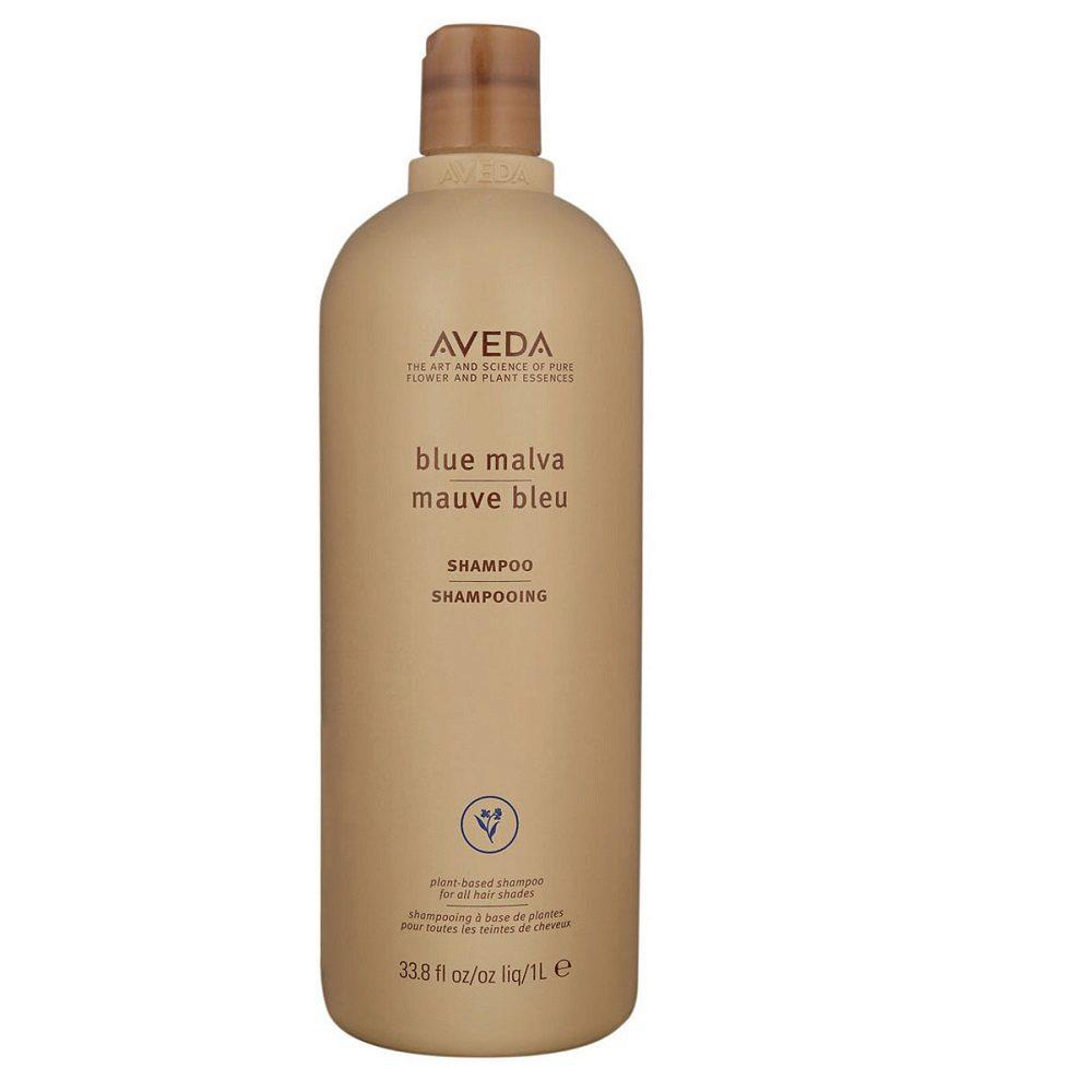 Aveda Blue malva shampoo 1000ml - shampoo tonalizzante antigiallo per capelli grigi e bianchi