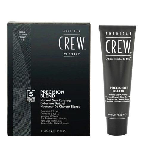 American Crew Classic Precision Blend 2-3 scuro 3x40ml